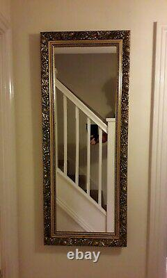 Wall Mirror Decorative Antiqued Gold French Style Frame 100cmx40cm PICK UP ONLY