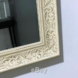 Wall Mirror Decorative Cream and Gold Vintage French Style Frame 66cm x 77cm