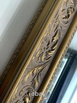 Wall Mirror Decorative antiqued Gold Vintage French Style Frame 92cm x 68cm
