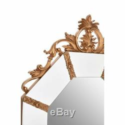 Wall Mirror Gold Resin Frame Contemporary Design Home Décor Acanthus Leaf Detail