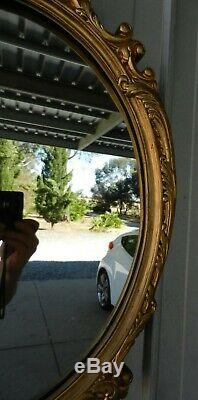 Wall Mirror Ornate Gold Gilt Gesso / Plaster Rococo Vintage
