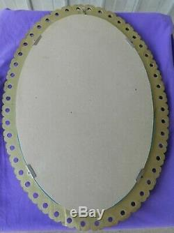 Wall Mirror Oval Gold Frame Hanging Stunning Vintage