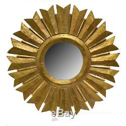 Wall Mirror Wooden Frame Gold 35.5-Decorative Wall Decor -Wall Mirror -Accent