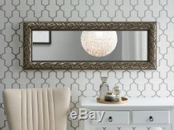 Wall Rectangular Mirror Wooden Frame Vintage Retro Antique Silver Bellac