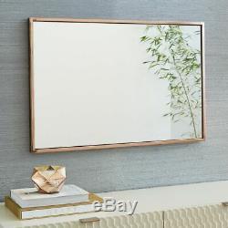 West Elm Metal Wall Mirror Rose Gold RRP £249