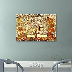 Wieco Art Tree of Life Large Canvas Prints Wall Art by Gustav Klimt Classical