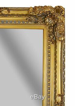 XL Mirror Baroque Gold 175x83cm Full Length Wall Antique Floor