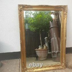 X LARGE Gold Shabby Chic Ornate Decorative Wall Mirror